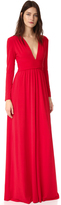 Halston V Neck Gown