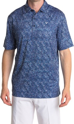 Callaway Golf Road Map Texture Performance Polo