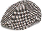 Tagliatore houndstooth flat cap