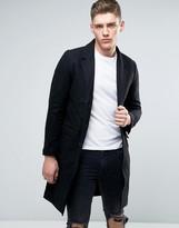 Lindbergh Overcoat In Black Wool