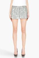 Diane von Furstenberg grey Naples Short Crystal Tweed shorts
