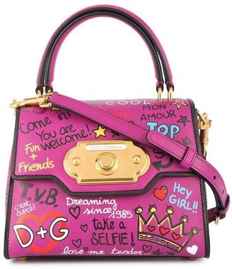 Dolce & Gabbana Welcome printed tote bag