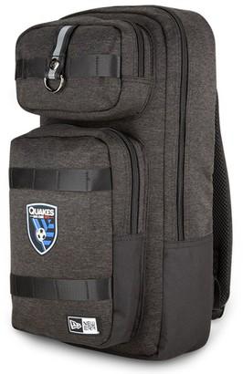 New Era Heathered Black San Jose Earthquakes Slim Tech Backpack