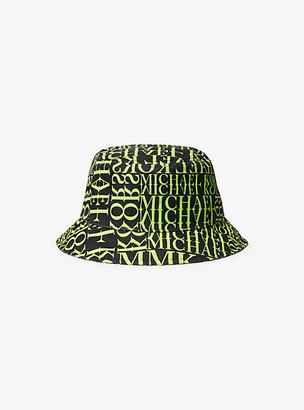 Michael Kors Newsprint Logo Bucket Hat
