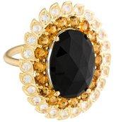 Jamie Wolf 18K Onyx, Citrine & Moonstone Ring