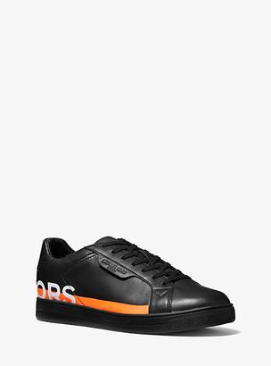 Michael Kors Keating Printed Leather Sneaker - Black