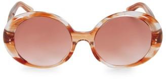 Celine 57MM Flamed Havana Frame Round Sunglasses