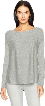 NYDJ Women's Boat Neck Sweater with Split Back