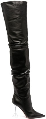 Amina Muaddi Olivia thigh-high boots