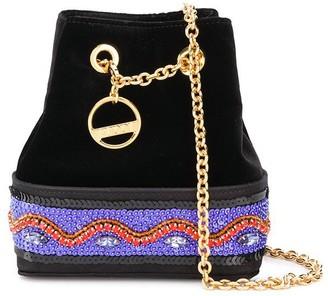 Emilio Pucci Embellished Satin Bonita Mini Bucket Bag