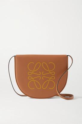 Loewe Heel Small Leather Shoulder Bag - Tan
