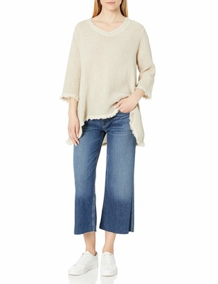M Made in Italy Women's Washed Woven L/S Sleeve Tunic