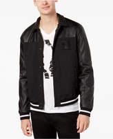 Armani Exchange Men's Mixed-Media Bomber Jacket