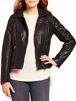 Steve Madden Asymmetrical Faux Leather Moto Jacket