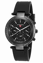 Swiss Legend Women's 'Madison' Swiss Quartz Stainless Steel and Silicone Casual Watch, Color:Black (Model: 16175SM-BB-01)