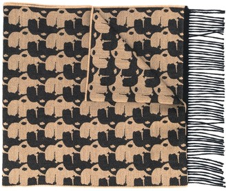 Karl Lagerfeld Paris graphic print scarf