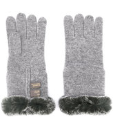 N.Peal fur trim gloves - women - Rabbit Fur/Cashmere - One Size
