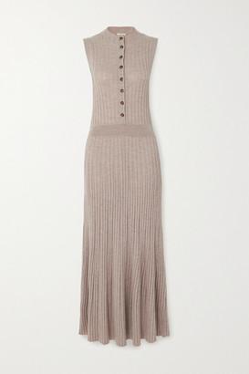 LOULOU STUDIO Arborea Ribbed Wool Maxi Dress