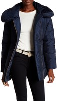 Cole Haan Quilted Oversize Collar Down Coat