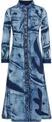 Proenza Schouler Bleached Denim Midi Shirt Dress