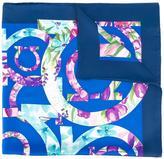 Salvatore Ferragamo floral logo scarf