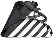 Akris Women's Medium AI Convertible Stripe-Block Leather Tote