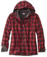 L.L. Bean L.L.Bean Fleece-Lined Flannel Plaid Hoodie