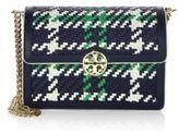 Tory Burch Duet Woven Micro Chain Crossbody Bag