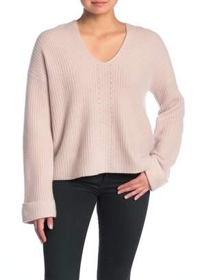 360 Cashmere Eloise V-Neck Hooded Cashmere Pullover