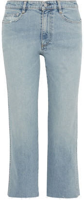 Simon Miller Distressed Mid-rise Straight-leg Jeans