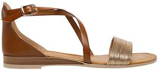 Diana Ferrari Balli Platnium/ Tan Sandal