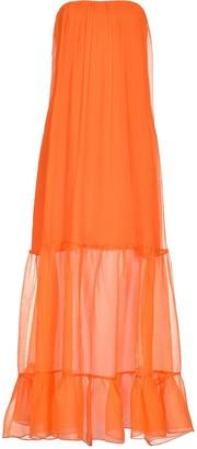 Pinko Strapless Evening Dress