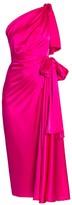 Dolce & Gabbana One-Shoulder Stretch Satin Dress