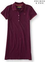 Aeropostale Womens Prince & Fox Solid Piqu Polo Dress Shirt