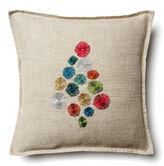 Coral & Tusk Exclusive Pom-Pom Tree 12x12 Pillow