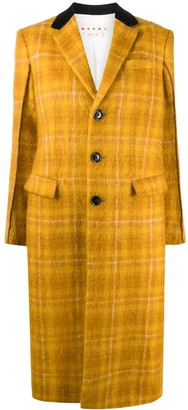 Marni Check-Pattern Single-Breasted Coat