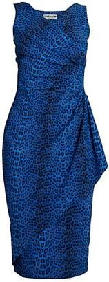 Chiara Boni Asymmetric Leopard-Print Sheath Dress