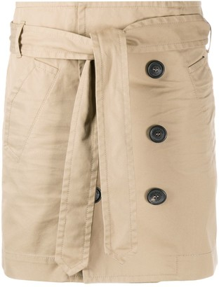 DSQUARED2 Belted Trench Mini Skirt