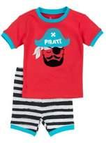 Petit Lem Little Boy's Two-Piece Sea Friends Pirate Pajama Tee & Shorts Set