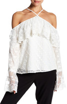 Yoana Baraschi Victorique Off-The-Shoulder Lace Blouse