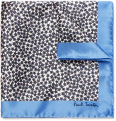 Paul Smith Floral-Print Silk Pocket Square