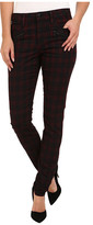 Joe's Jeans In Line Zip Skinny in Coated Red Plaid