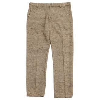 Laurence Dolige Beige Silk Trousers for Women