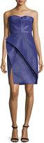 J. Mendel Bustier Structured-Skirt Dress, Violet
