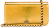 Balenciaga BB Phone Holder Chain Bag in Gold | FWRD
