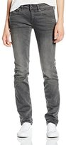 G Star Women's Attacc Midrise Straight Slander Grey Super Stretch Medium Aged Jean
