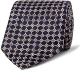 Dunhill 8.5cm Mulberry Silk-jacquard Tie - Midnight blue