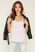 Forever 21 Sequin Racerback Tank Top
