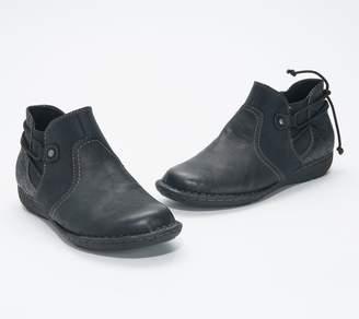 Earth Leather Ankle Boot w/ Drawstring - Tamara Trista