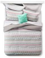 Xhilaration Gray Global Stripe Comforter Set